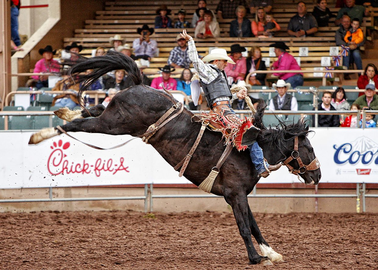 Louisiana cowboy Tyler Baeza scored 82 points aboard Julio on July 13 to advance and eventually win the saddle bronc event at the 2017 Pikes Peak or Bust Rodeo. Winning July 13 and in the Super Shoot Out Round on July 15 earned Baeza $16,000.
