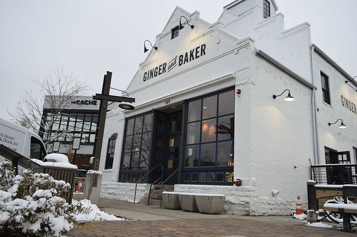 Ginger and Baker is housed at a 110-year-old mill, which in on the National Register of Historic Places. The builing in the background includes The Chache restaurant, which will help pipe heating and some electricity into the historic mill.