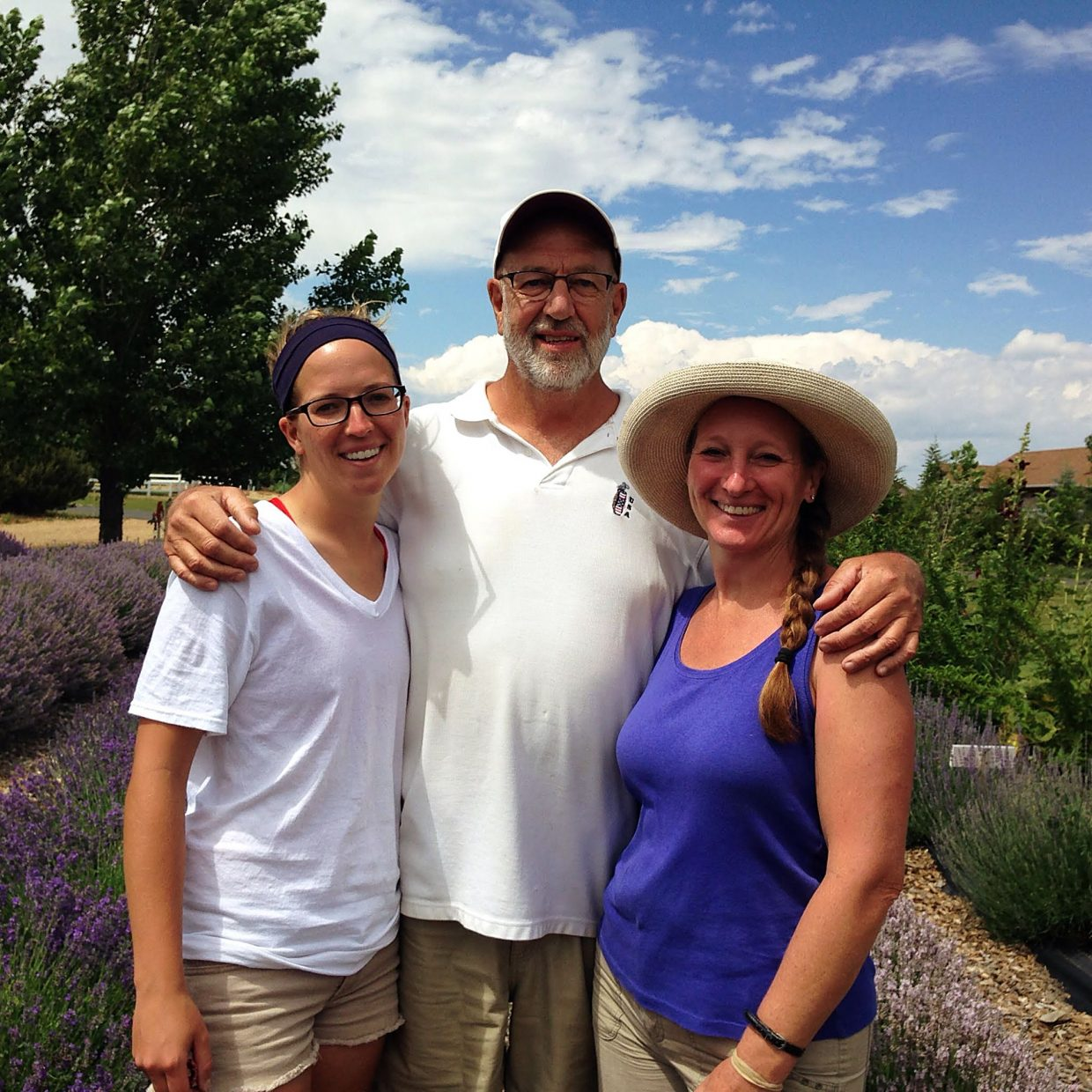 From left, Julia, Bob and Trudy Perry happily grow lavender at their Heritage Lavender farm in Berthoud, Colo.