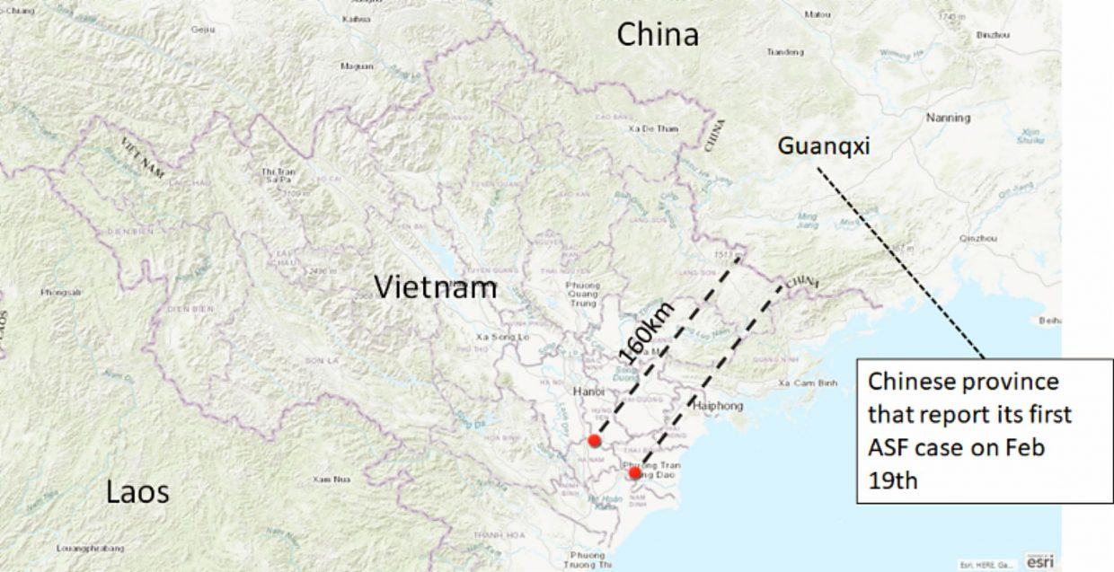 African swine fever reported in Vietnam   TheFencePost.com on vietnam and china map, vietnam china war 2009, vietnam china south china sea, china sea map, vietnam china oil rig, vietnam and thailand, vietnam china korea and taiwan, vietnam china war map, china and east asia map, vietnam and china border dispute, vietnam china war 1984, vietnam china history, china beach vietnam map, nanning china map, south korea border map, vietnam postcards saigon, vietnam flag and emblem, vietnam by sea, vietnam near china border,